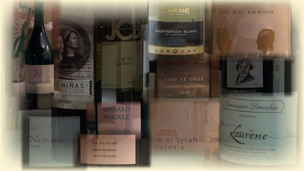 Une partie de ma sélection des vins à déguster...